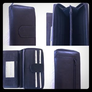 100% Real Leather Wallet w/ Credit Card Ordanizer
